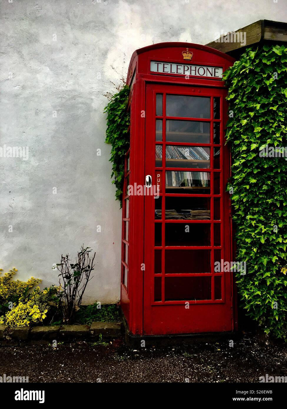Phone Booth Lake District Inghilterra Immagini Stock
