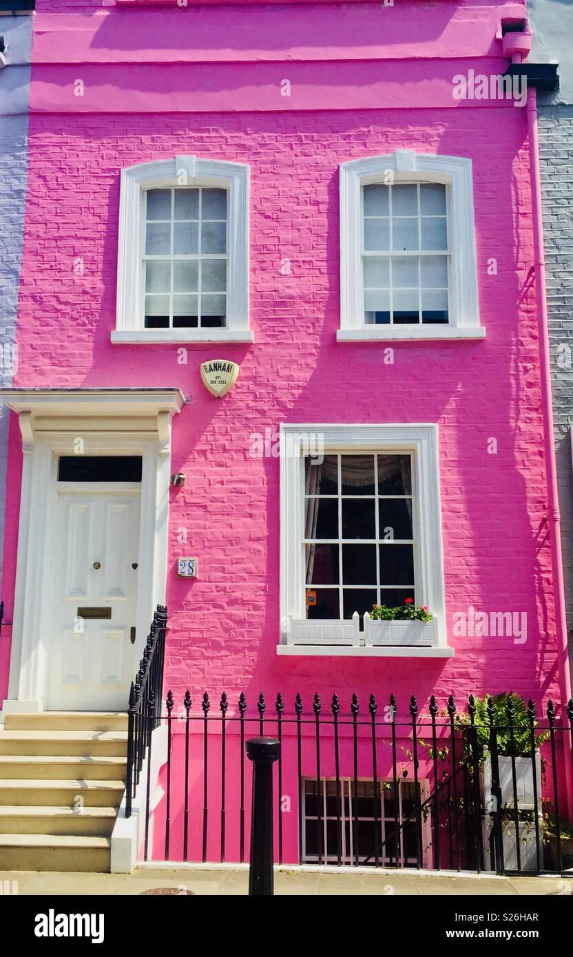 Rosa town house, Kensington & Chelsea, London Immagini Stock