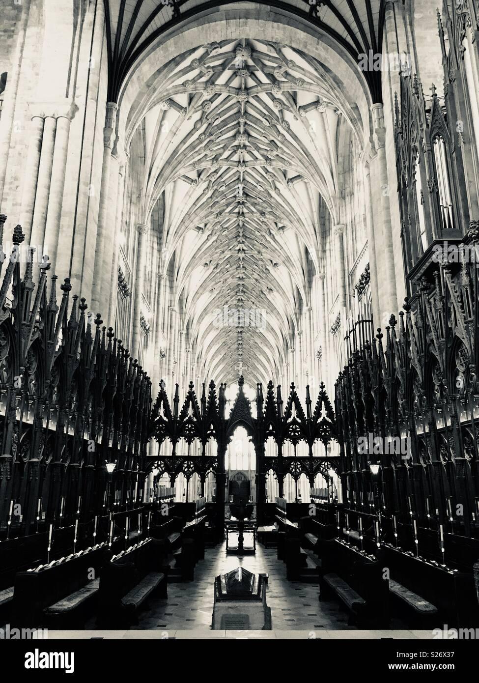 La cattedrale di Winchester interno Immagini Stock