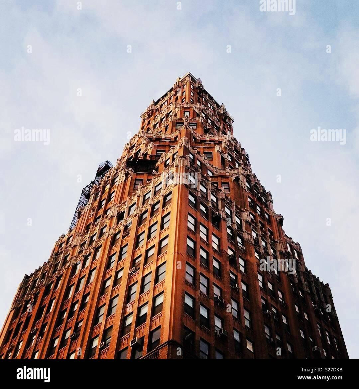 Foto drammatiche di costruzione nella città di New York Immagini Stock