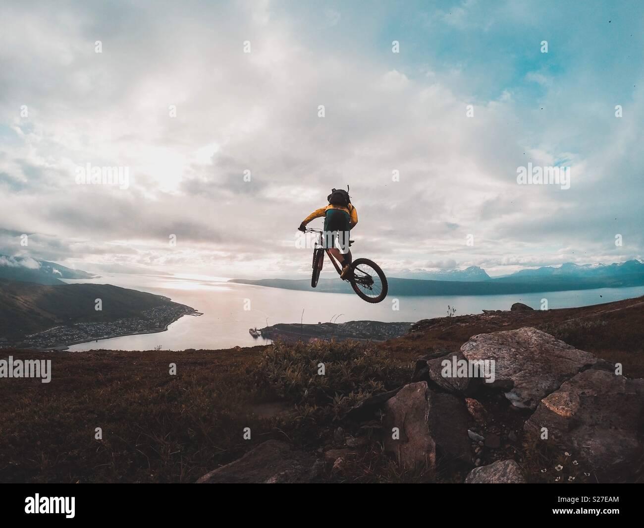 MTB in Norvegia Immagini Stock