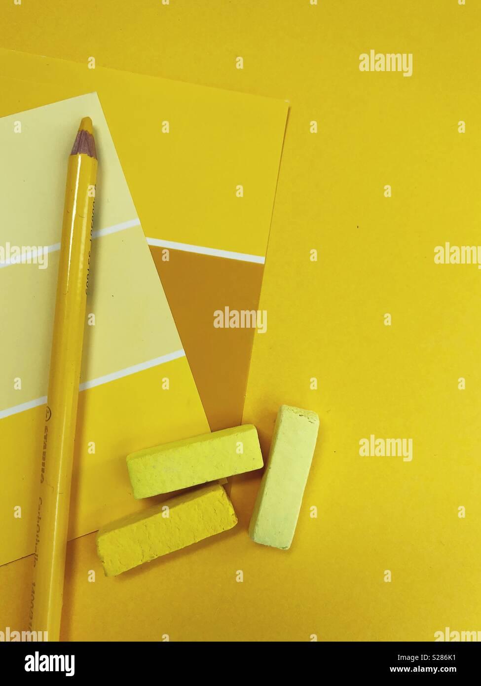 Conceptual: giallo. Immagini Stock