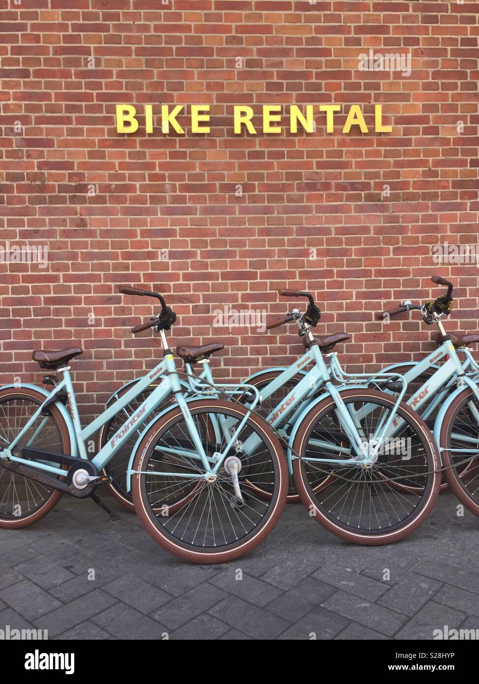 Amsterdam Noleggio biciclette Immagini Stock