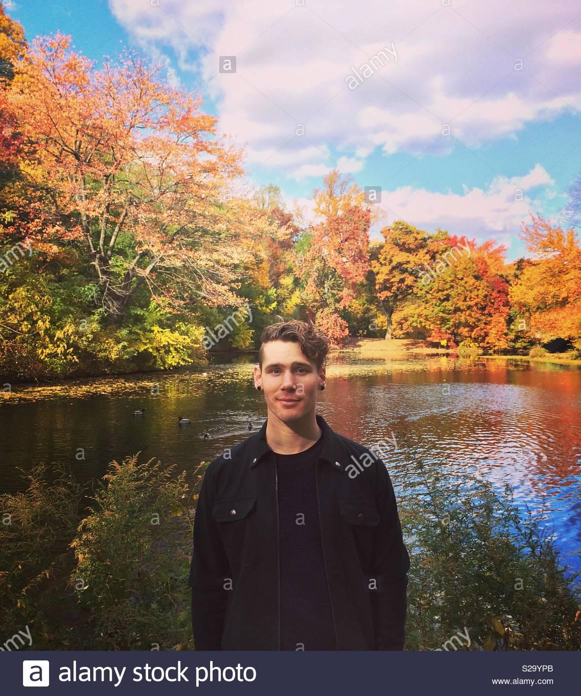 Prospect Park in autunno. Immagini Stock