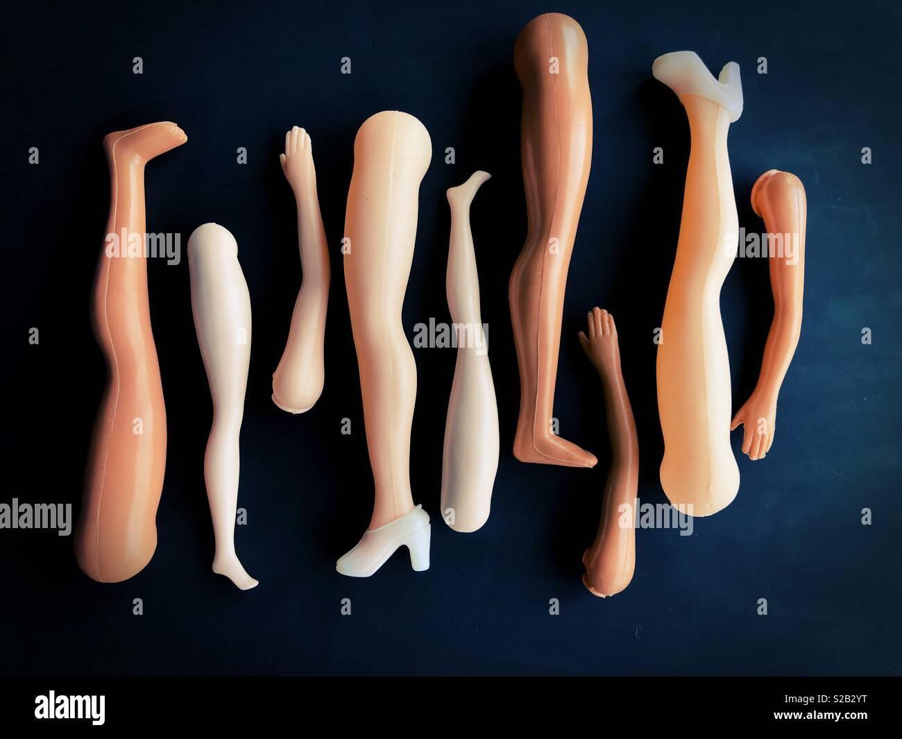 Conceptual: le braccia e le gambe. Immagini Stock