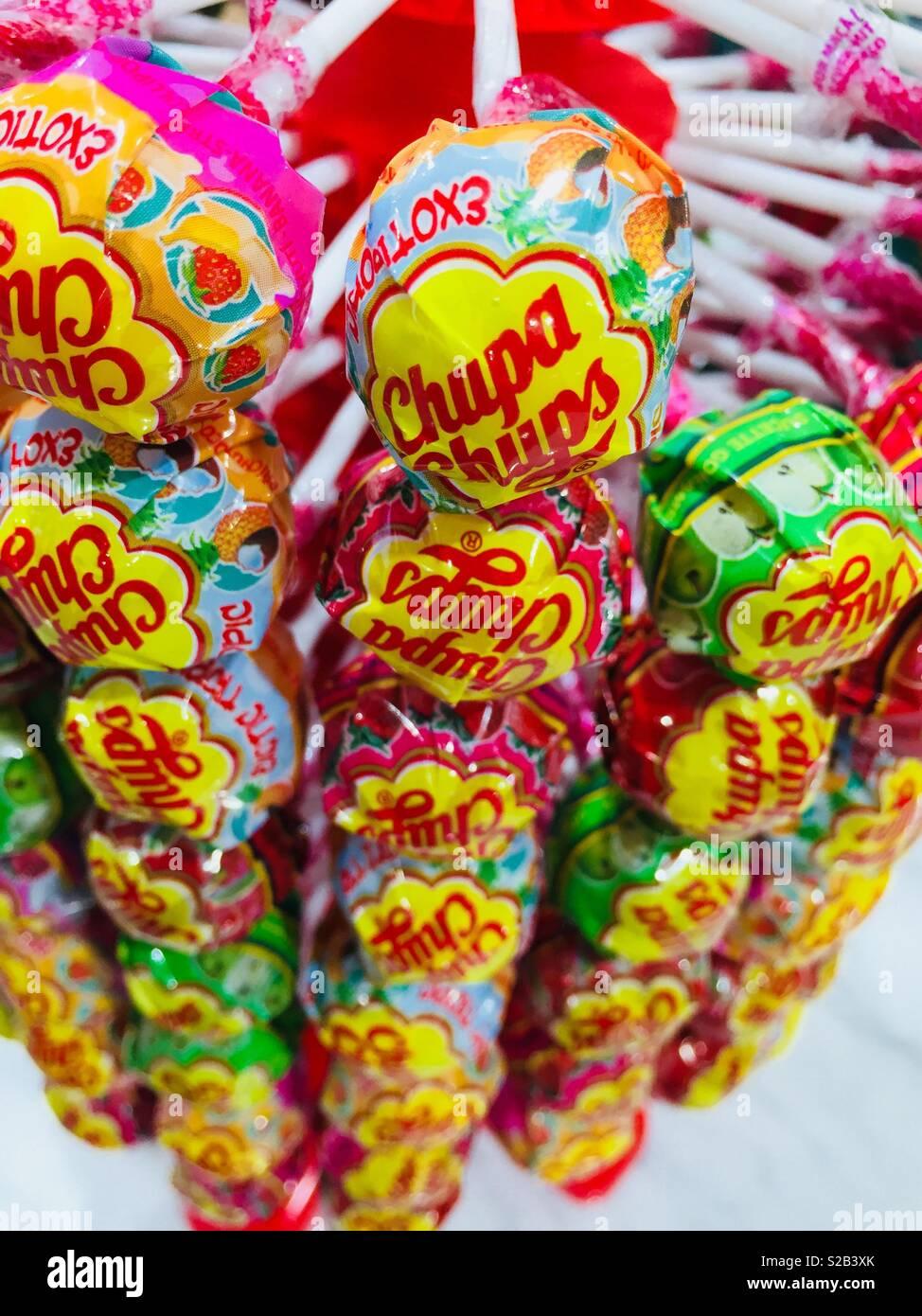 Candy ventose per la vendita, STATI UNITI D'AMERICA Immagini Stock