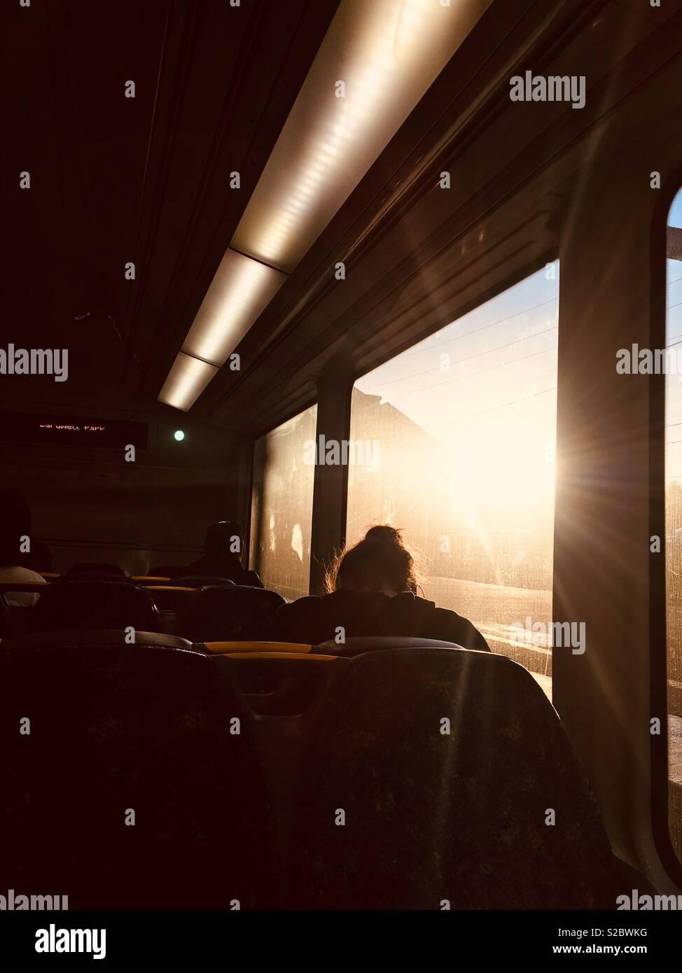 La luce solare attraverso la finestra Immagini Stock