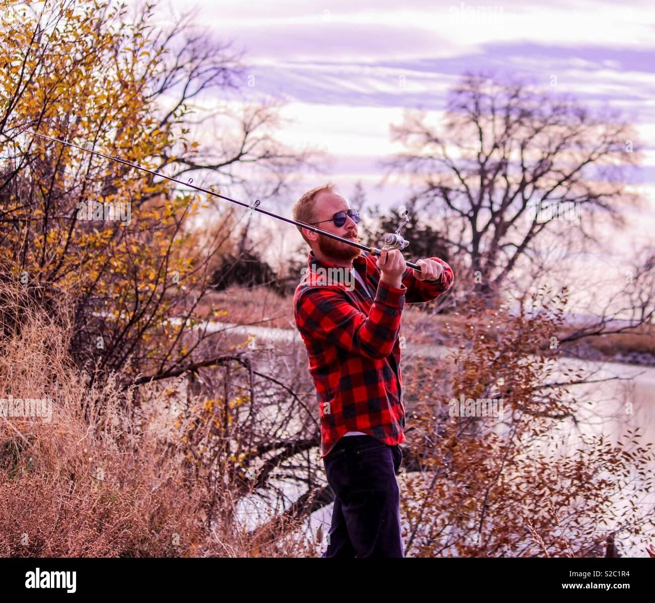 La pesca di Colorado Immagini Stock