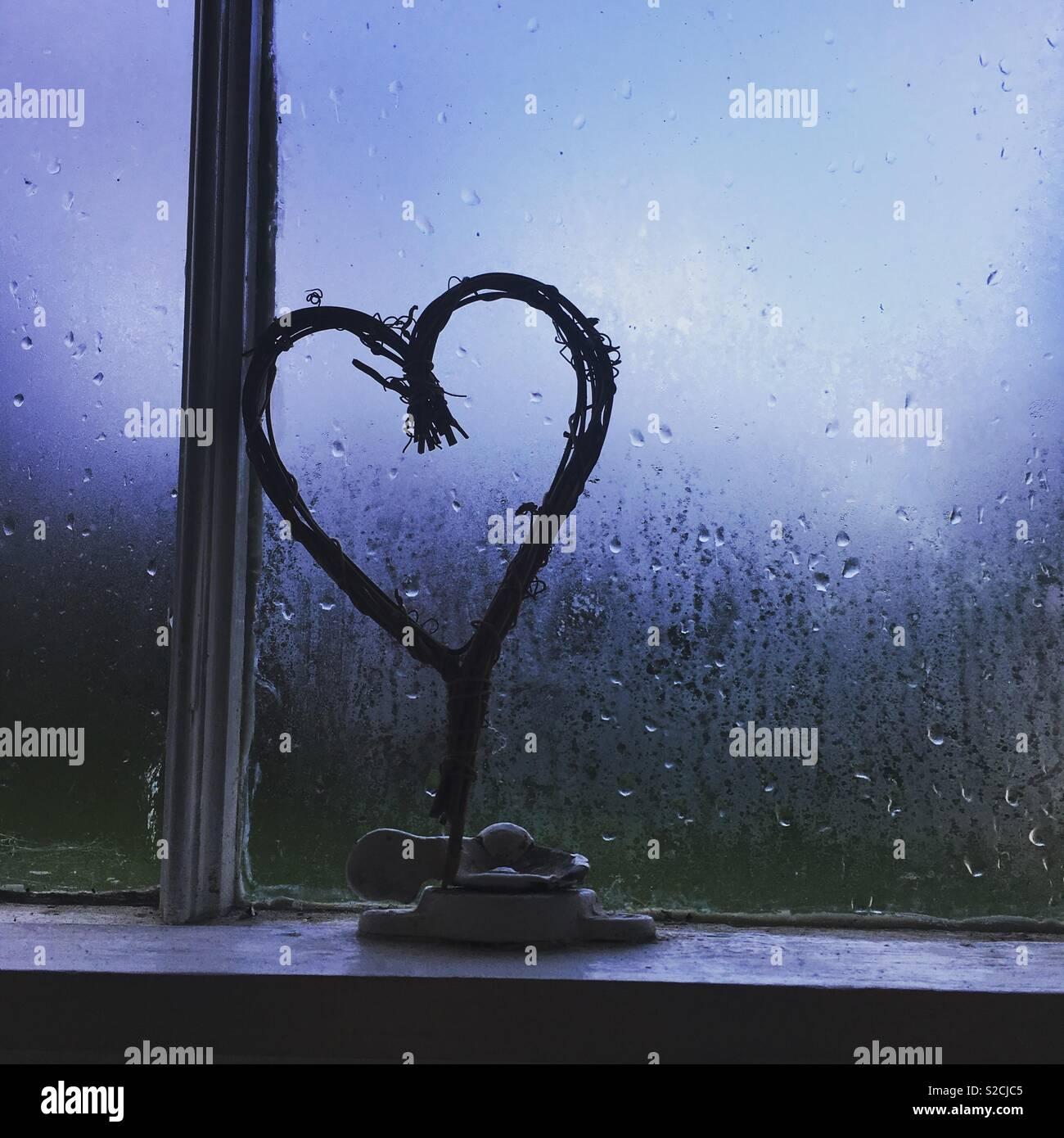 Cuore di pioggia Immagini Stock