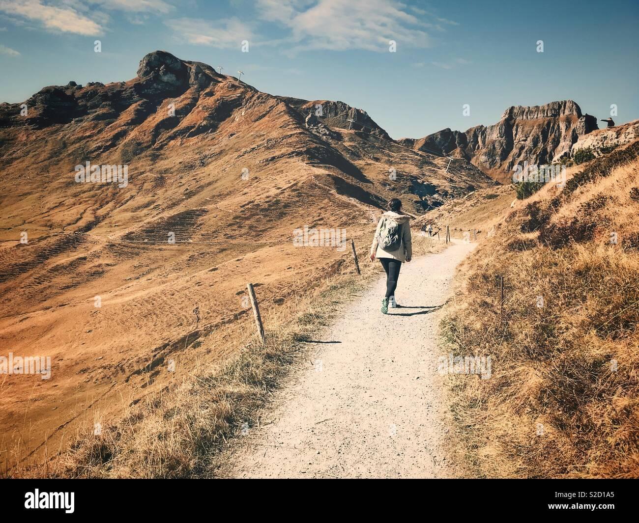 Escursionismo Foto Stock