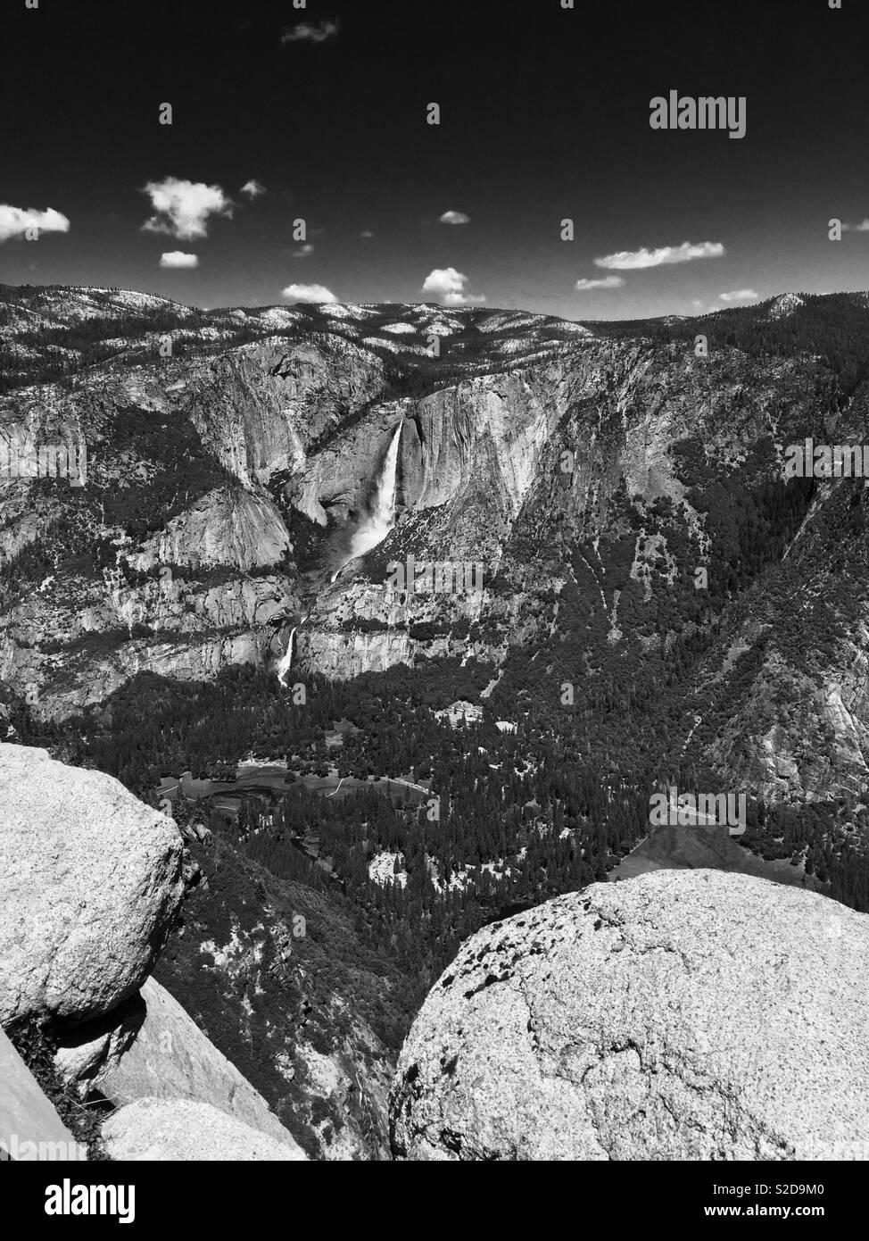 Grande Cascata nel Parco Nazionale di Yosemite Foto Stock