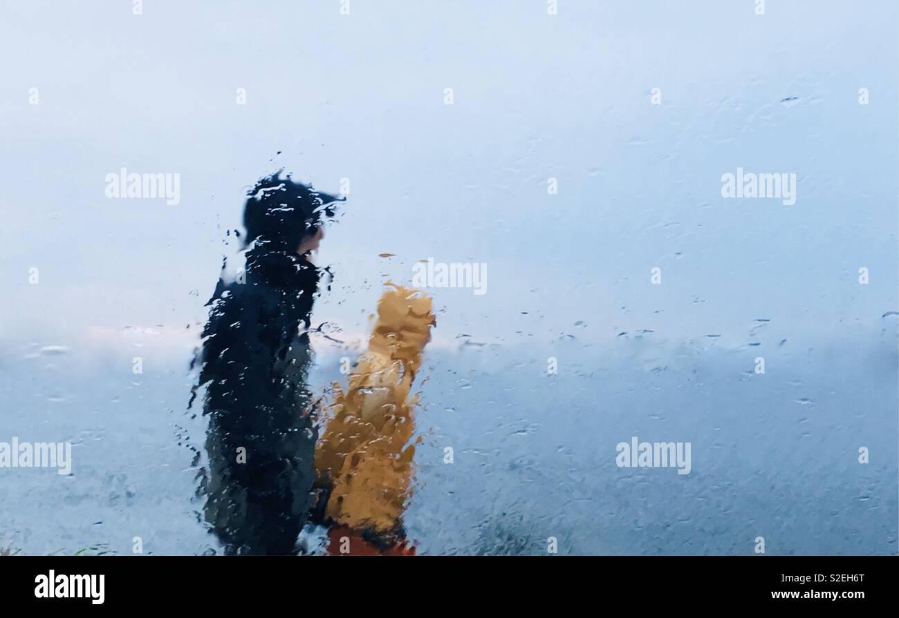 Tempo piovoso Foto Stock
