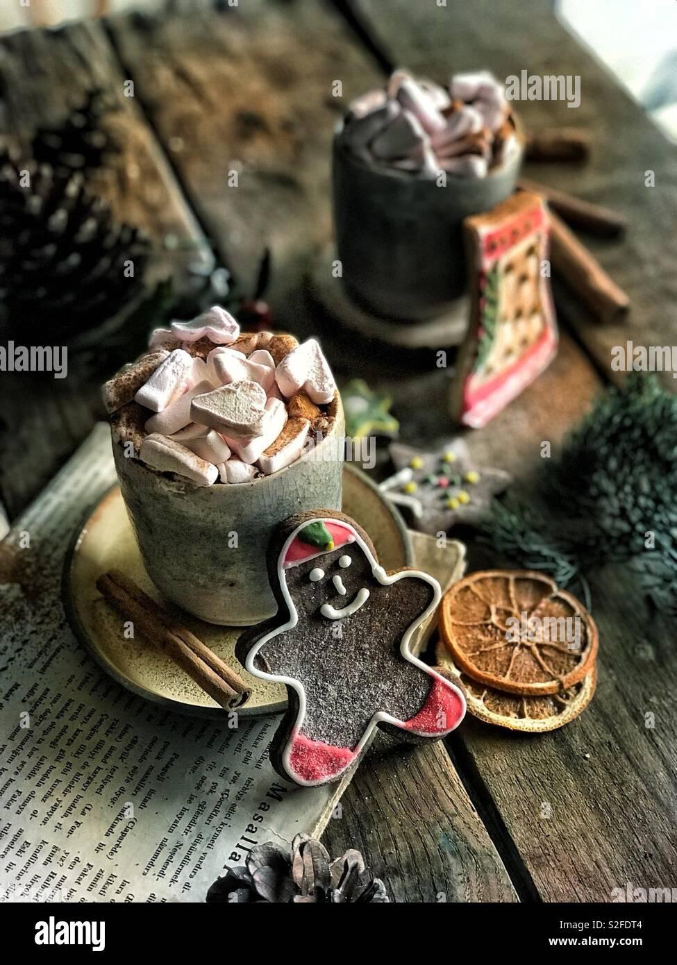 Biscotti al cioccolato Foto Stock
