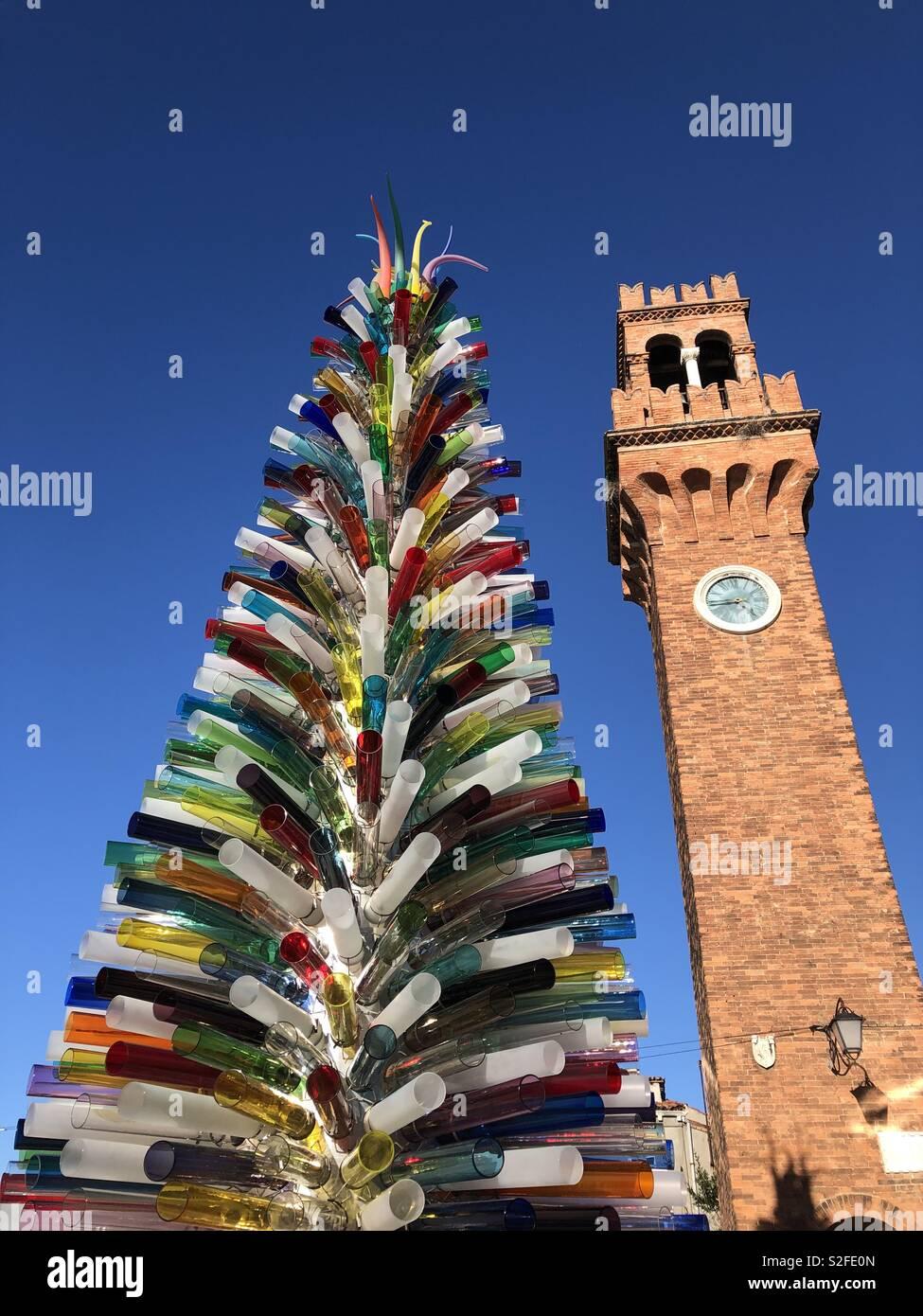 Murano albero di Natale Foto Stock