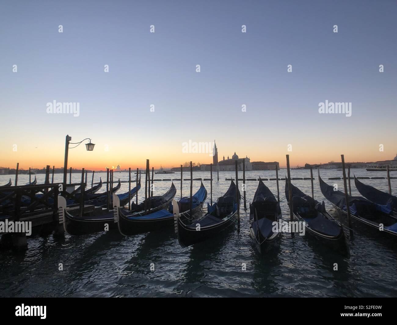 La mattina presto a Venezia Foto Stock