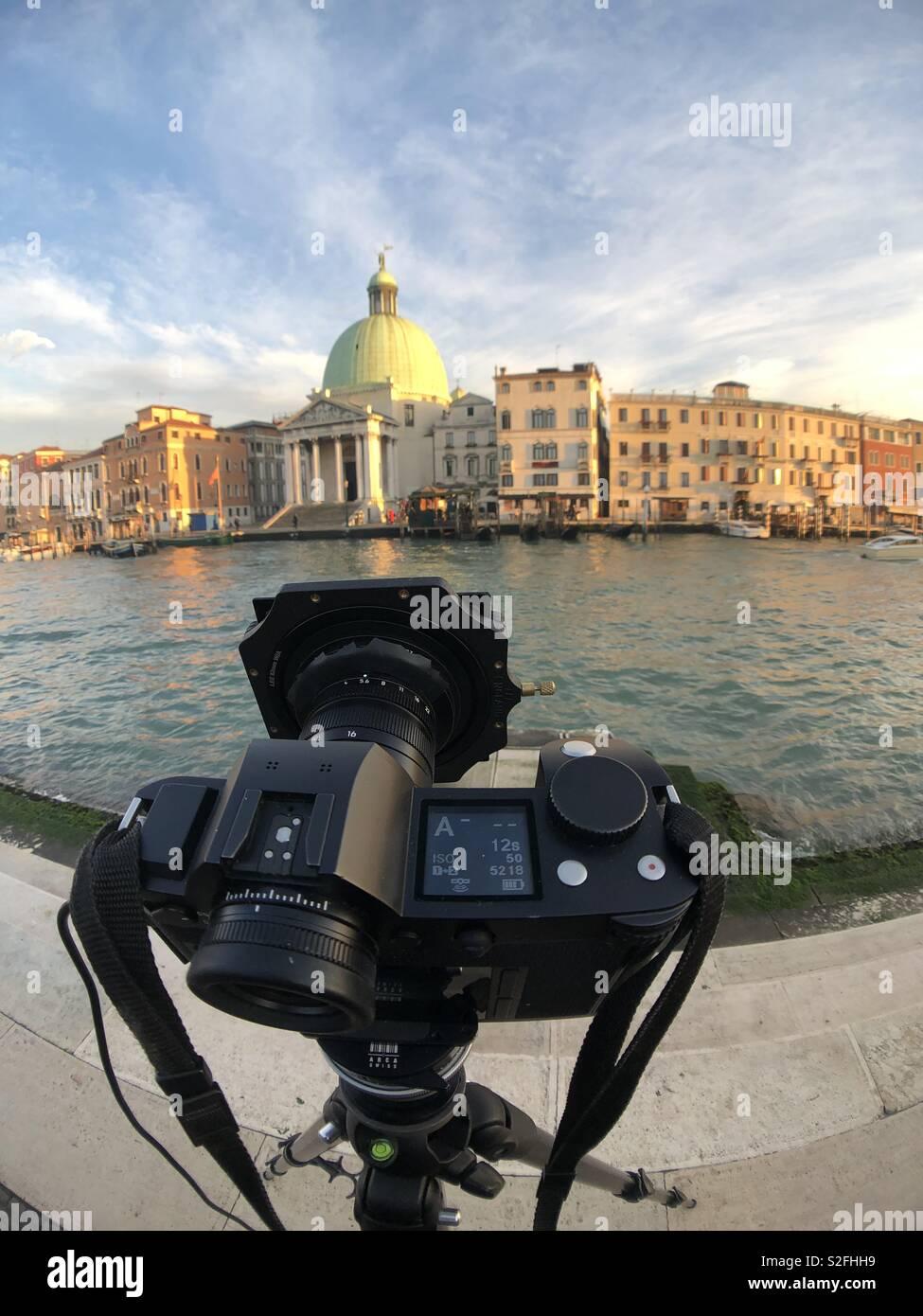 Cattura il Canal Grande a Venezia Foto Stock