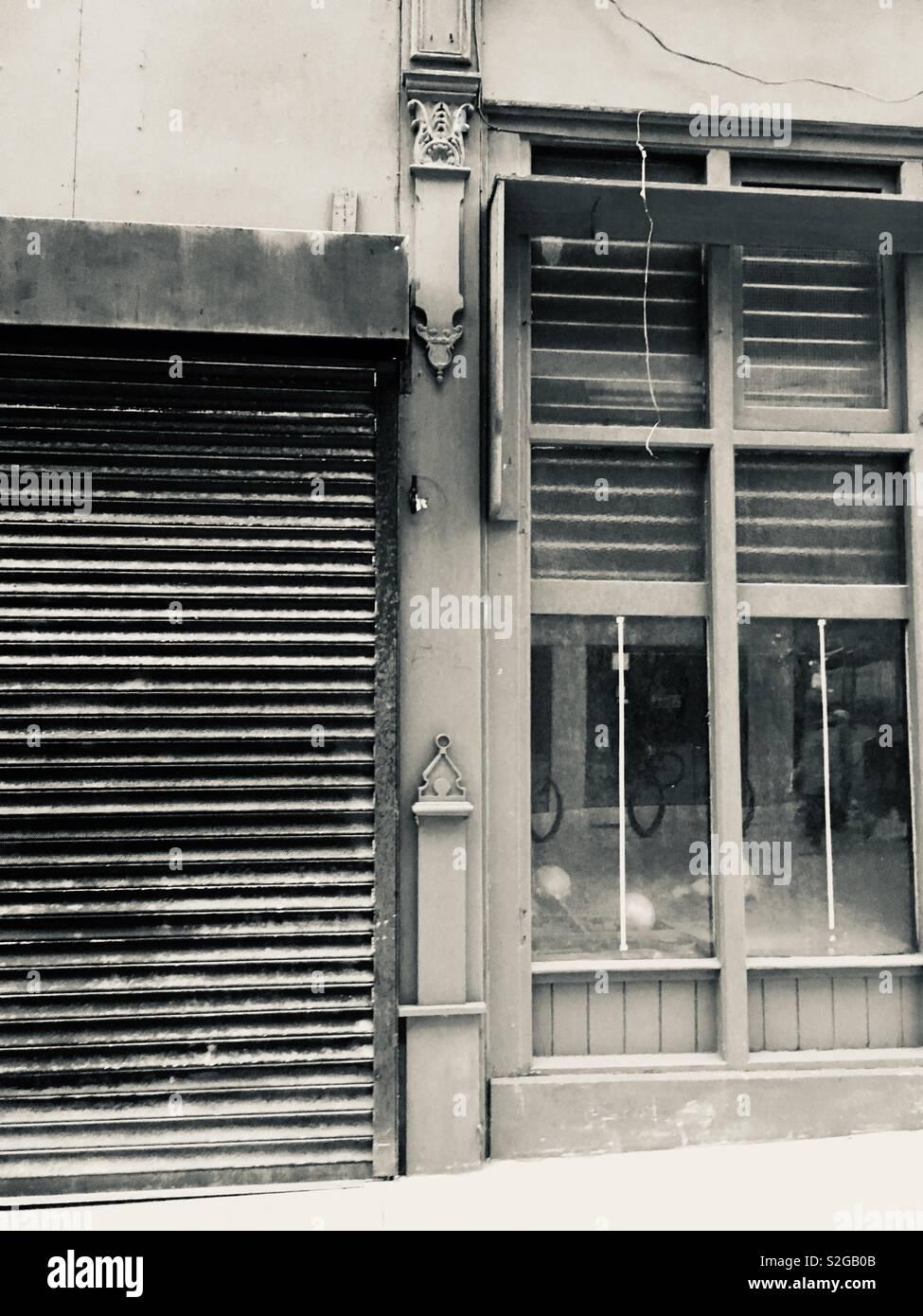 Edifici vuoti a Leeds, Regno Unito Foto Stock