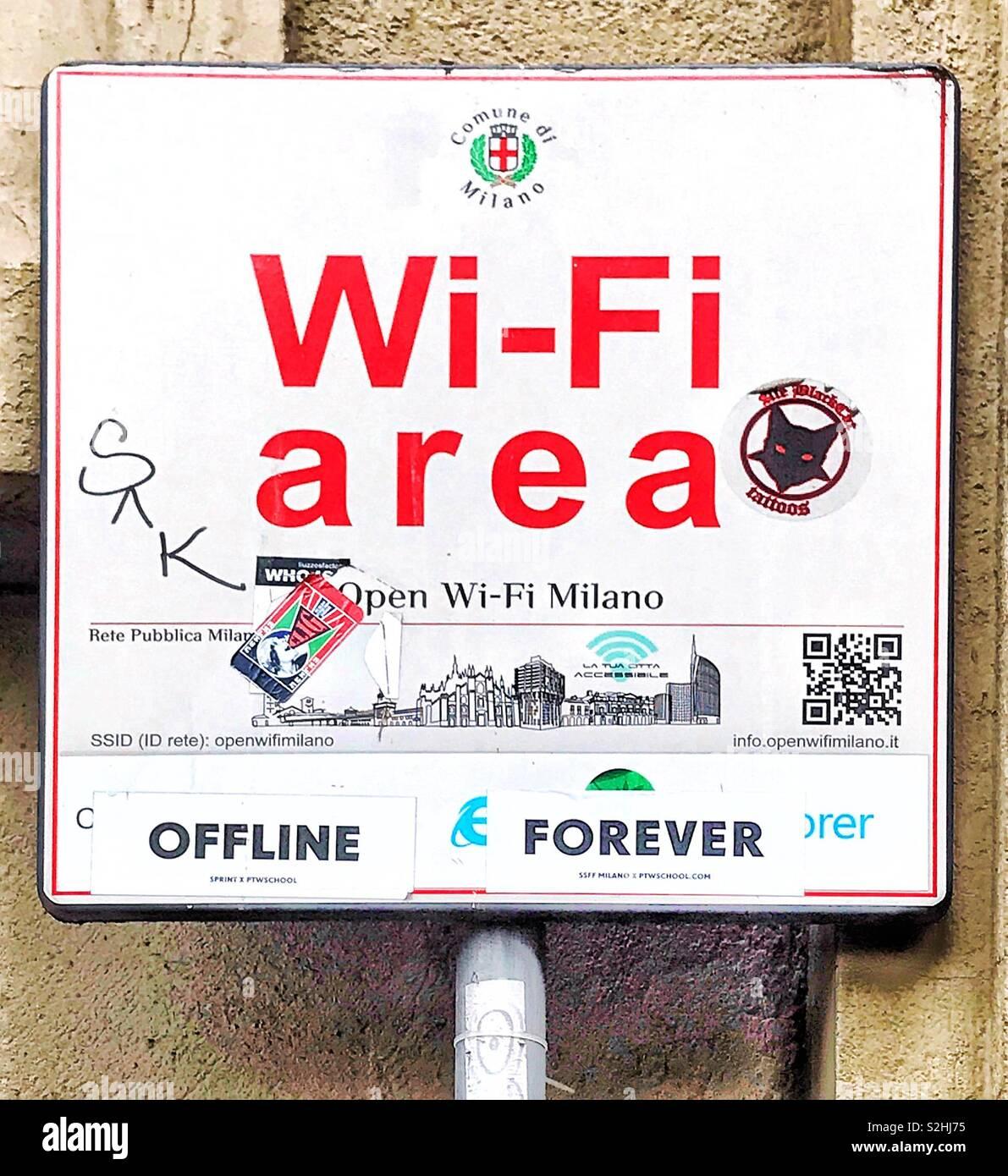 Cafe Bar wireless segno wifi gratuito finestra della ...