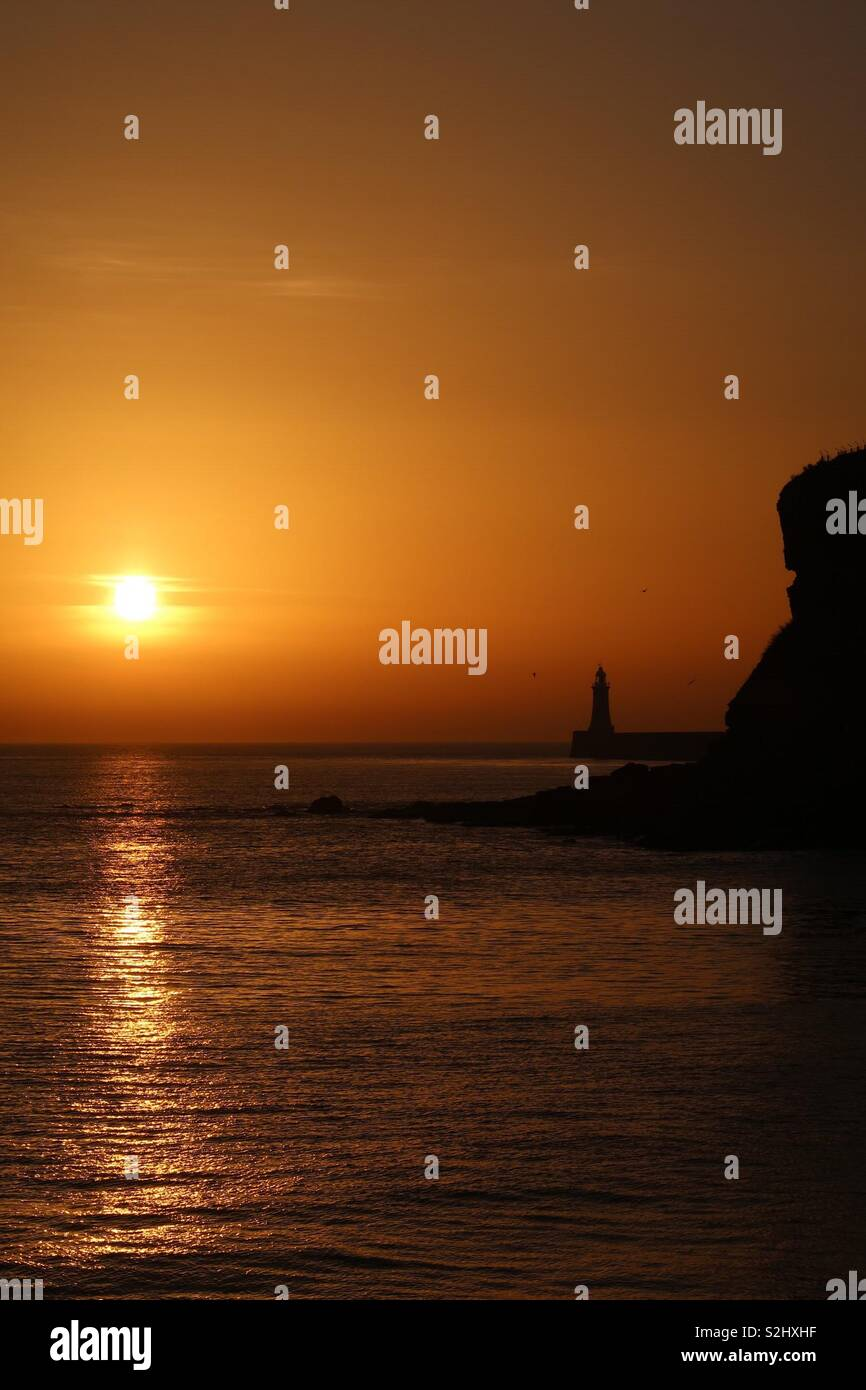 Sunrise in Tynemouth Foto Stock