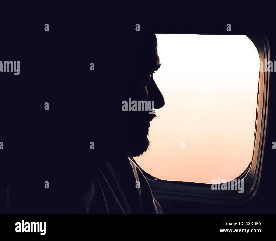 Di volo Foto Stock