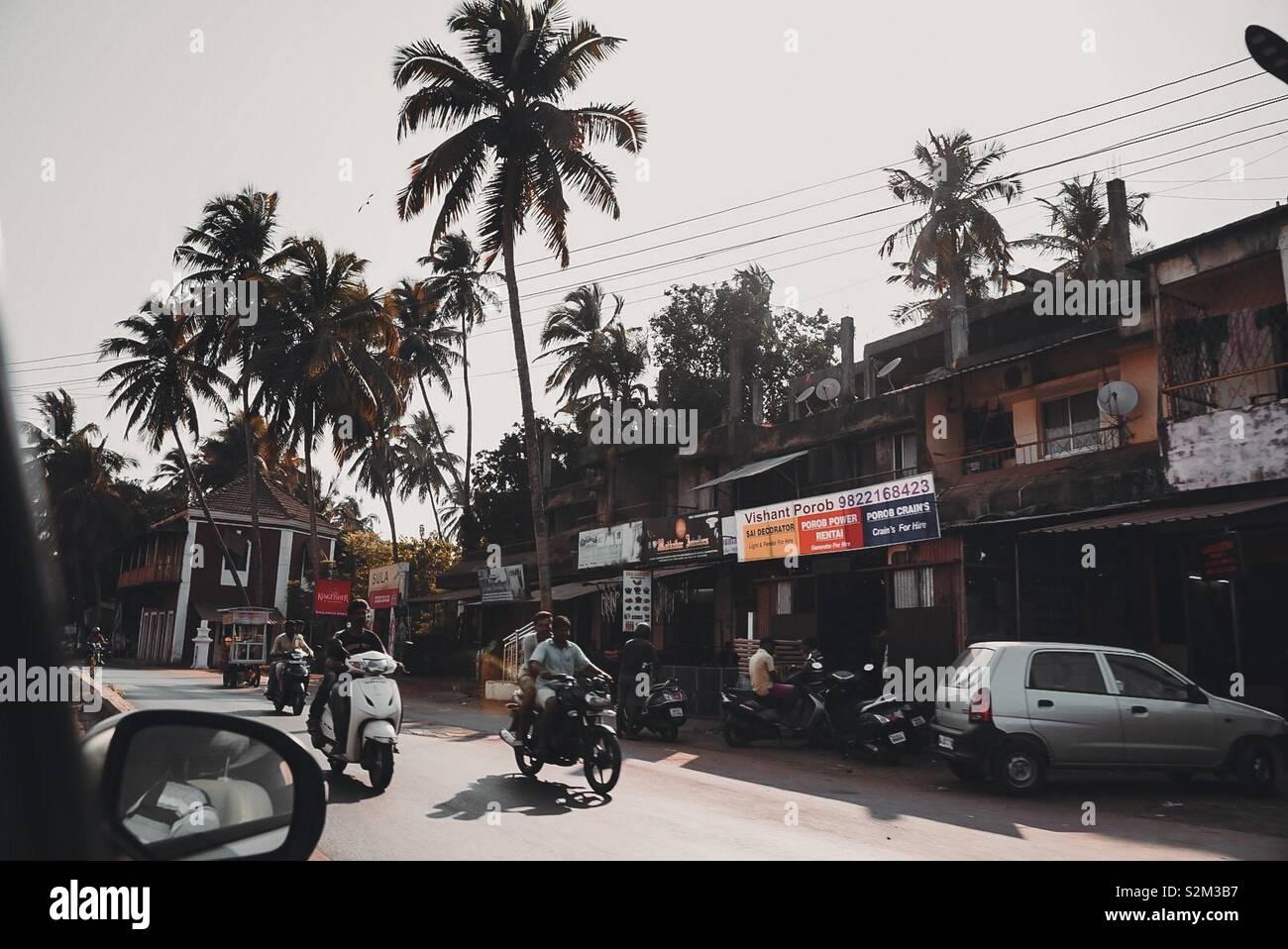 Strade di Goa Foto Stock