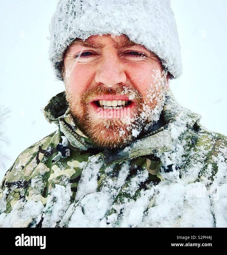 Tempesta di neve in Germania Foto Stock