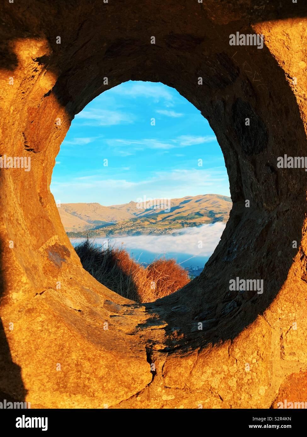Paesaggio attraverso una prospettiva diversa. Foto Stock