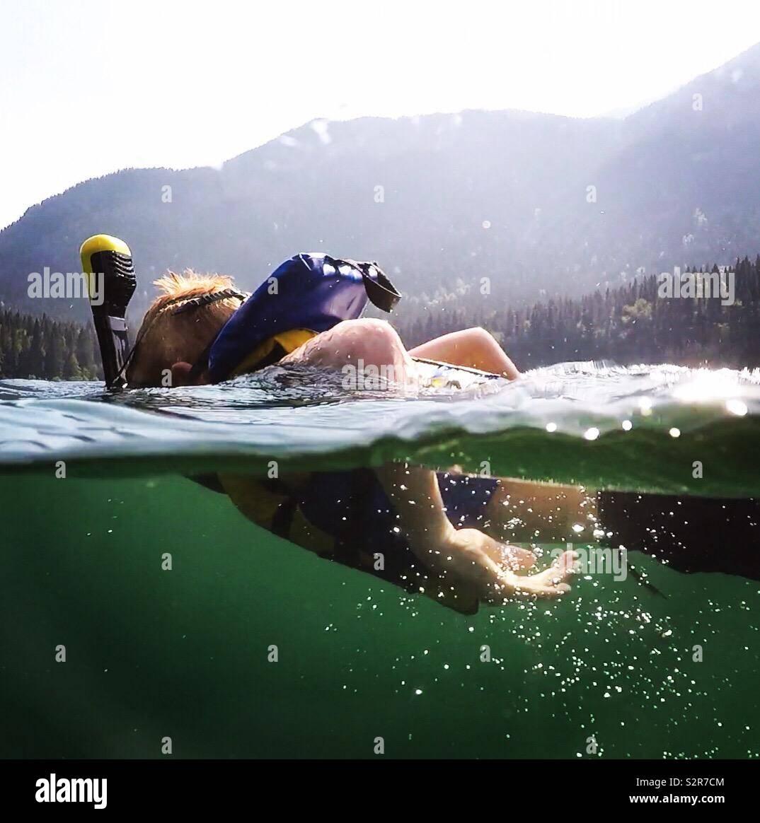 Snorkeling Foto Stock