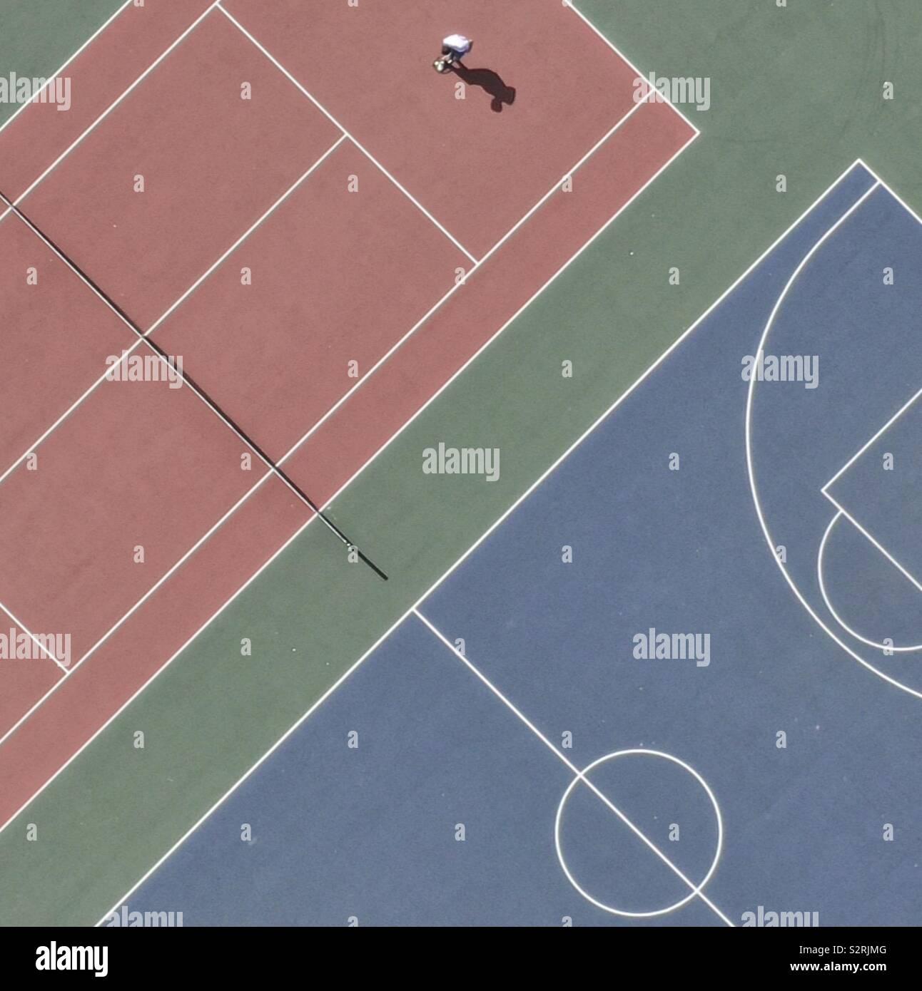 Campo da tennis Foto Stock