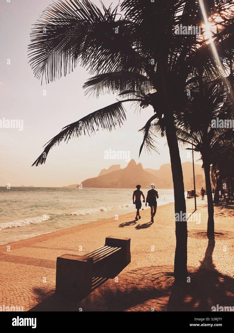 Spiaggia di Ipanema Foto Stock