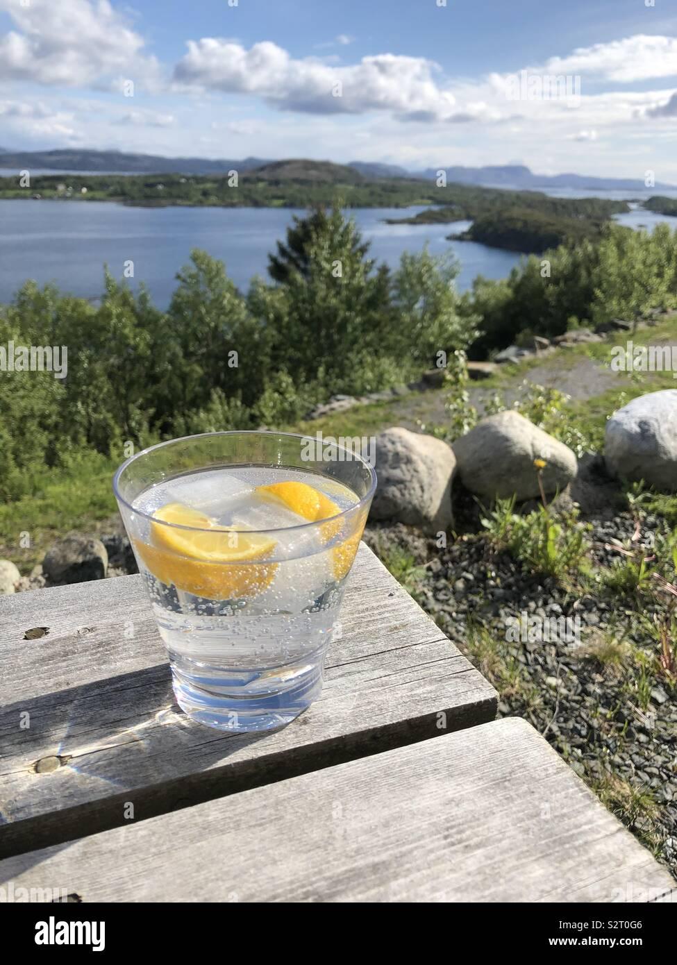 Ghiaccio e limone Foto Stock