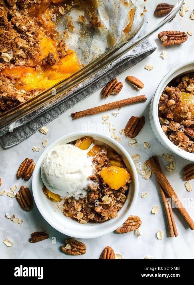Perfetto Peach Crisp Foto Stock