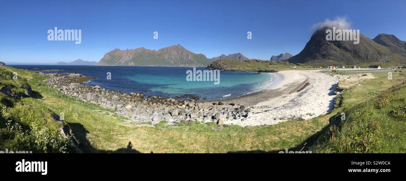 Paesaggio panoramico di Bo in Vesteralen, Norvegia. Foto Stock