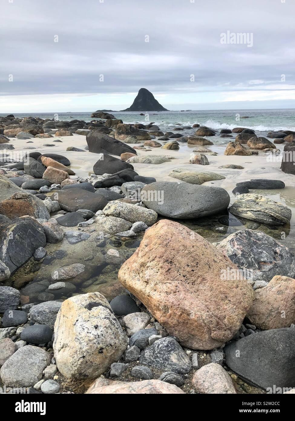 Isola dei puffini, Bleik, Vesteralen, Norvegia Foto Stock