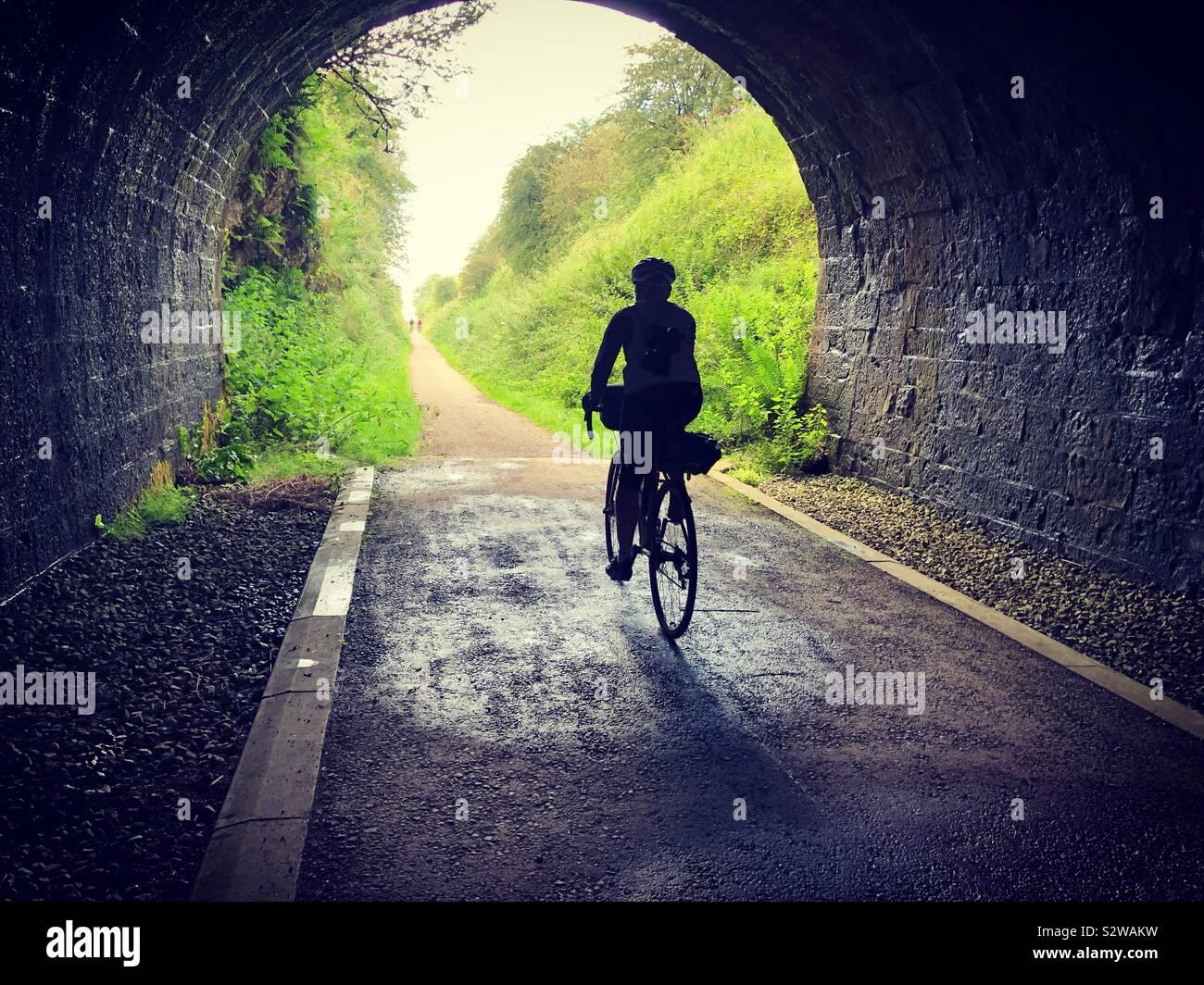 Escursioni in bicicletta sul picco elevato Trail, Derbyshire. Foto Stock