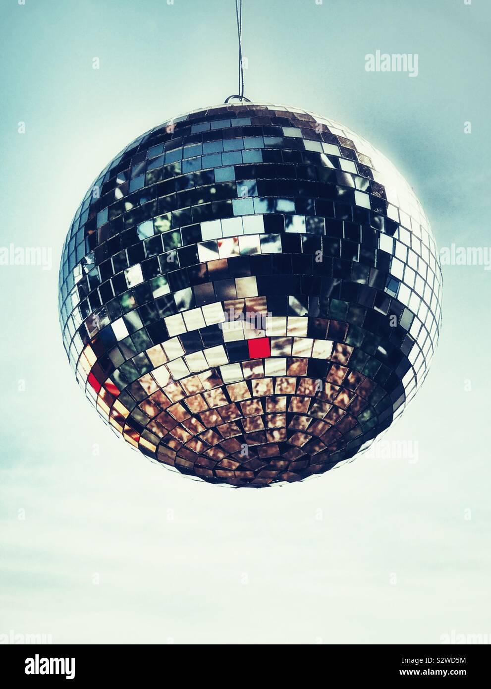 Un Glitter palla al Glastonbury Festival 2019 Foto Stock