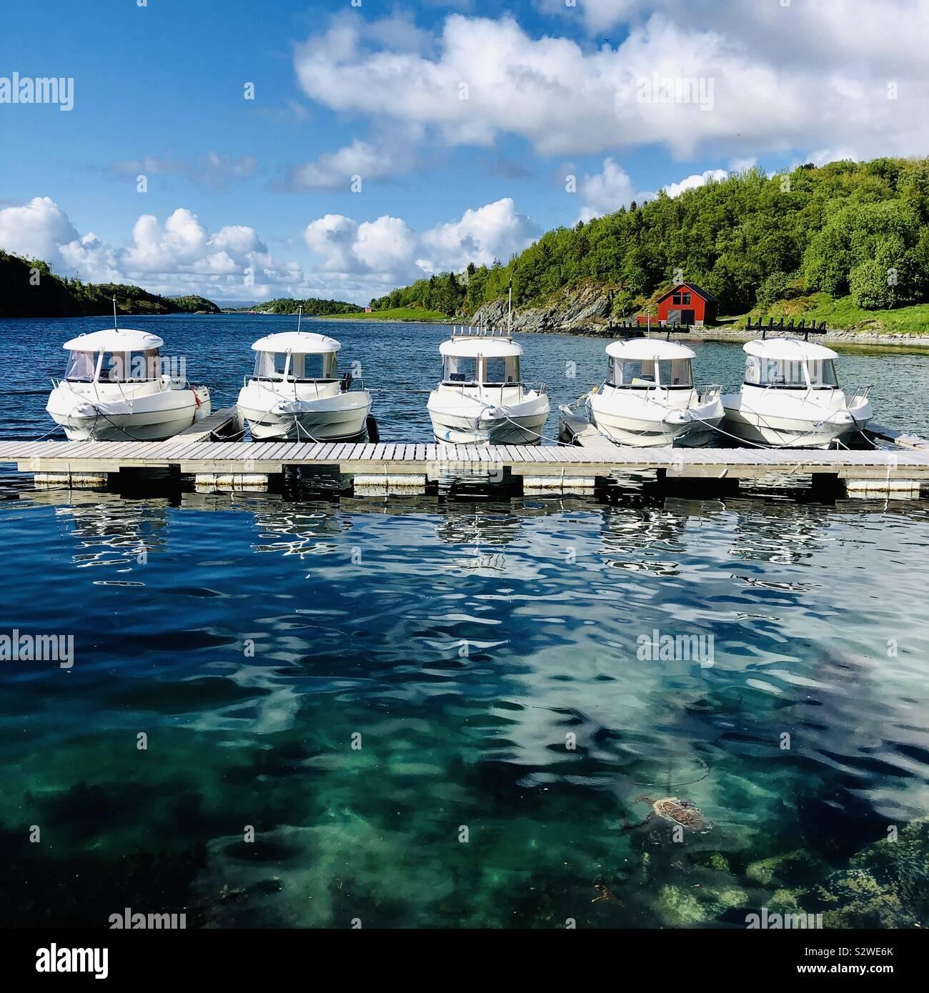 Leka isola marina, Norvegia. Foto Stock