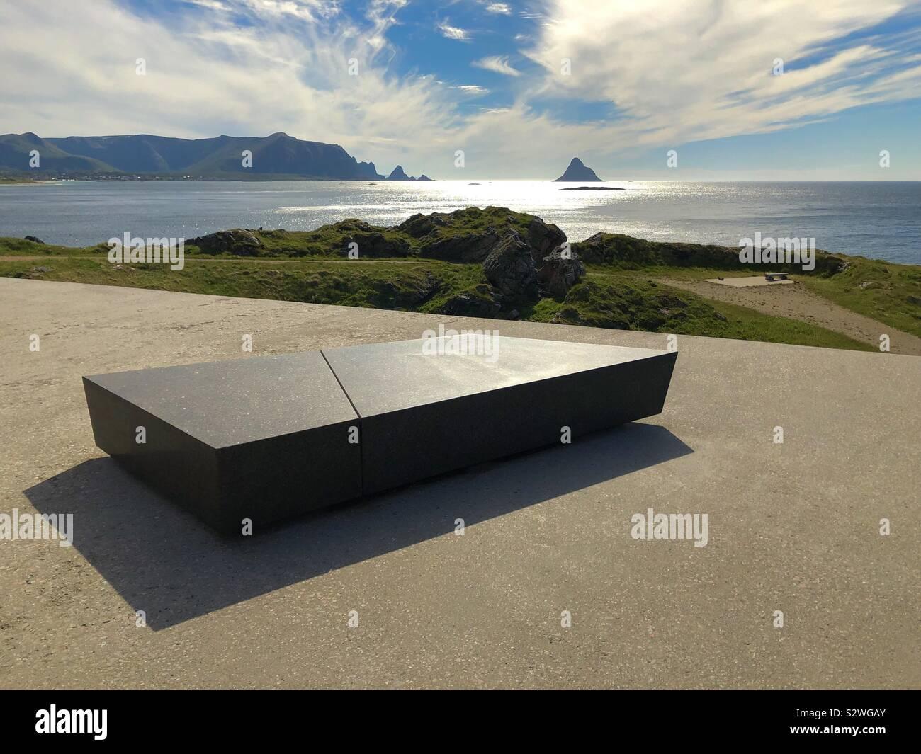 Sede di granito, Bleik, Andoya, Vesteralen, Norvegia. Foto Stock