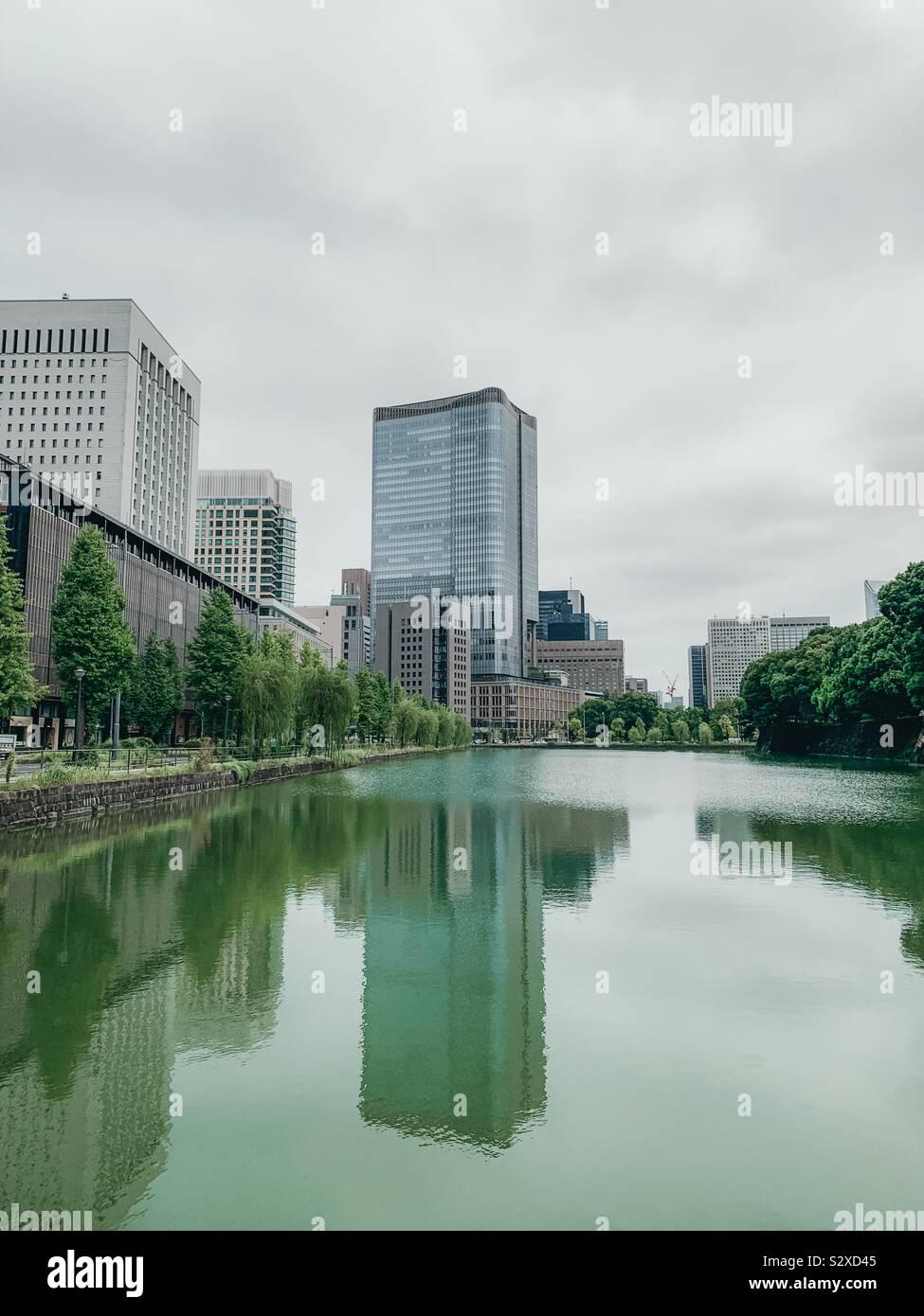 Giorno di pioggia a Tokyo Foto Stock