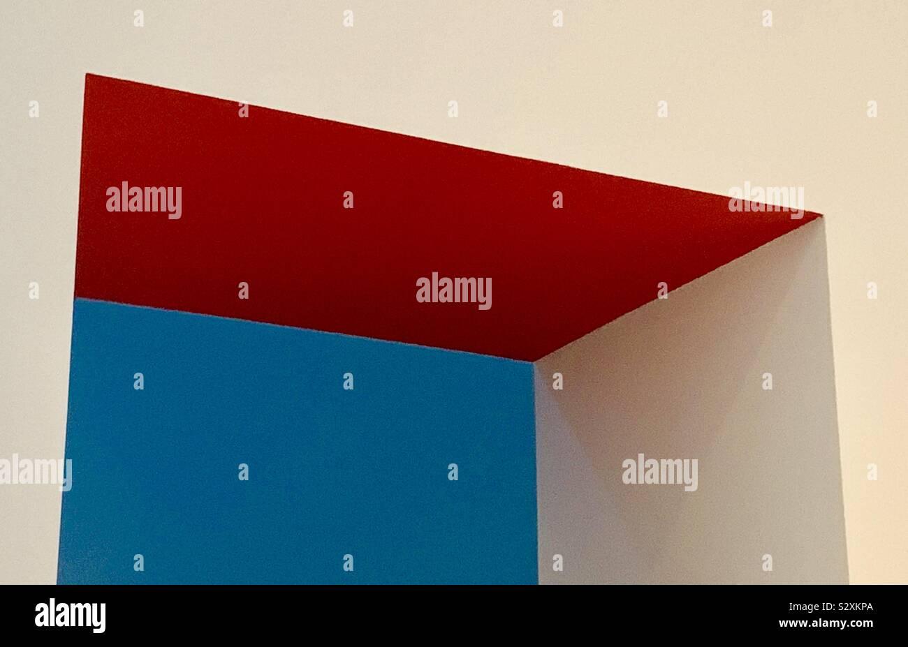 Forme geometriche in linee perfette Foto Stock