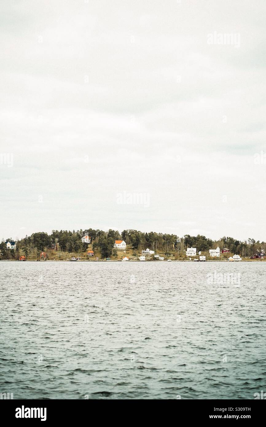 Vaxholm, Stoccolma Foto Stock