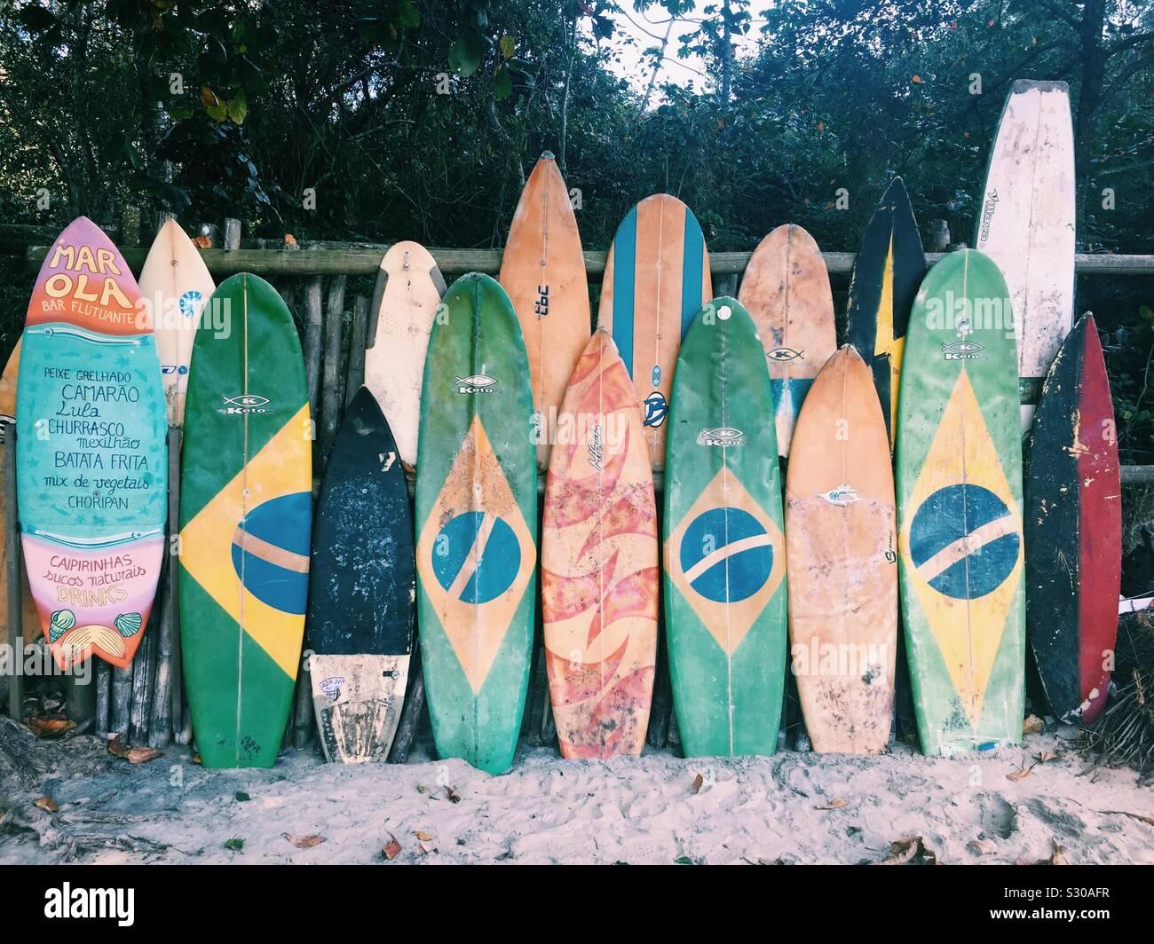 Fare surf Foto Stock