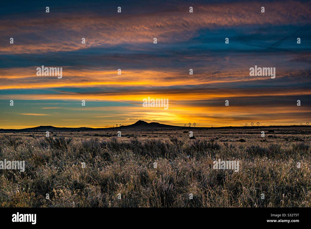 Tramonto Sul Vulcano Foto Stock