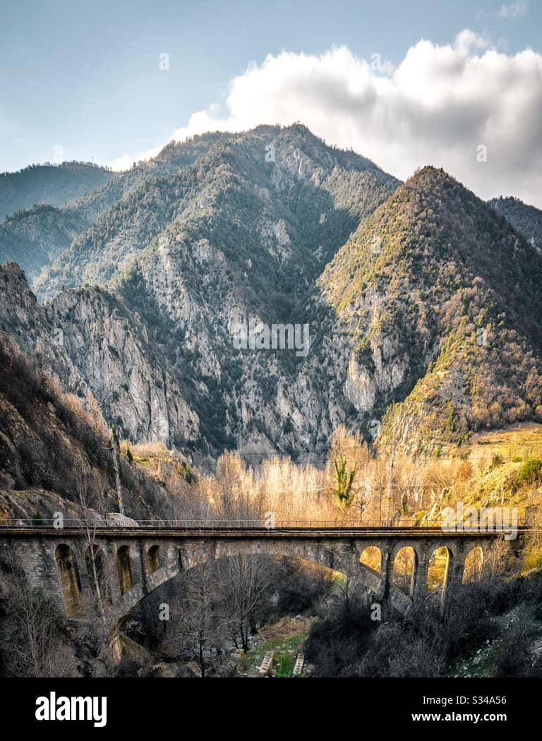 Кресненското дефиле - местност в България! Foto Stock