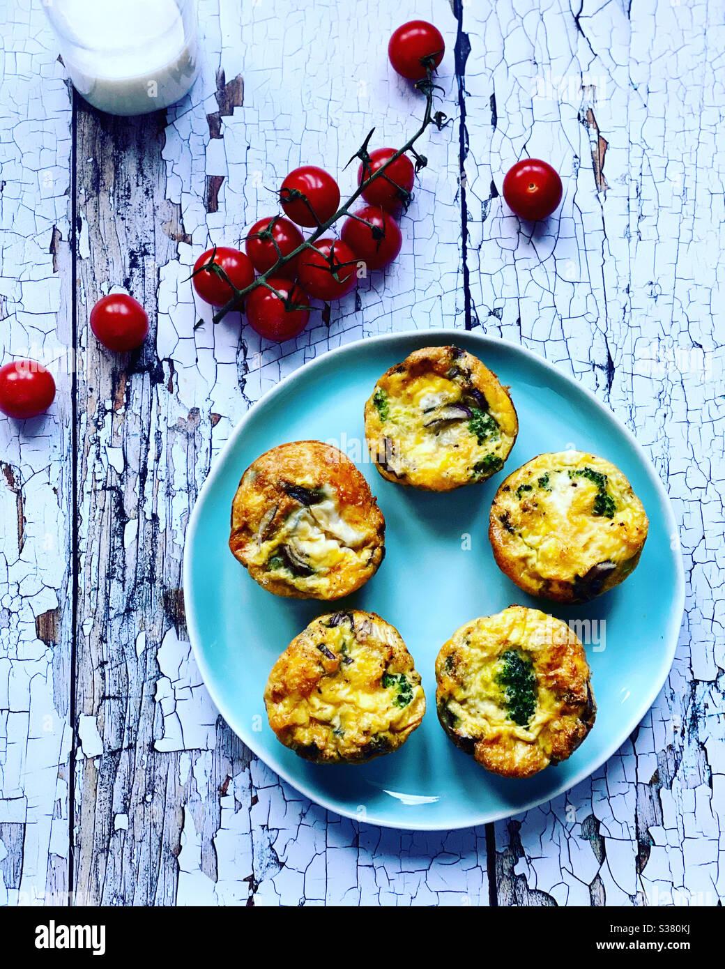 Uovo muffin Foto Stock