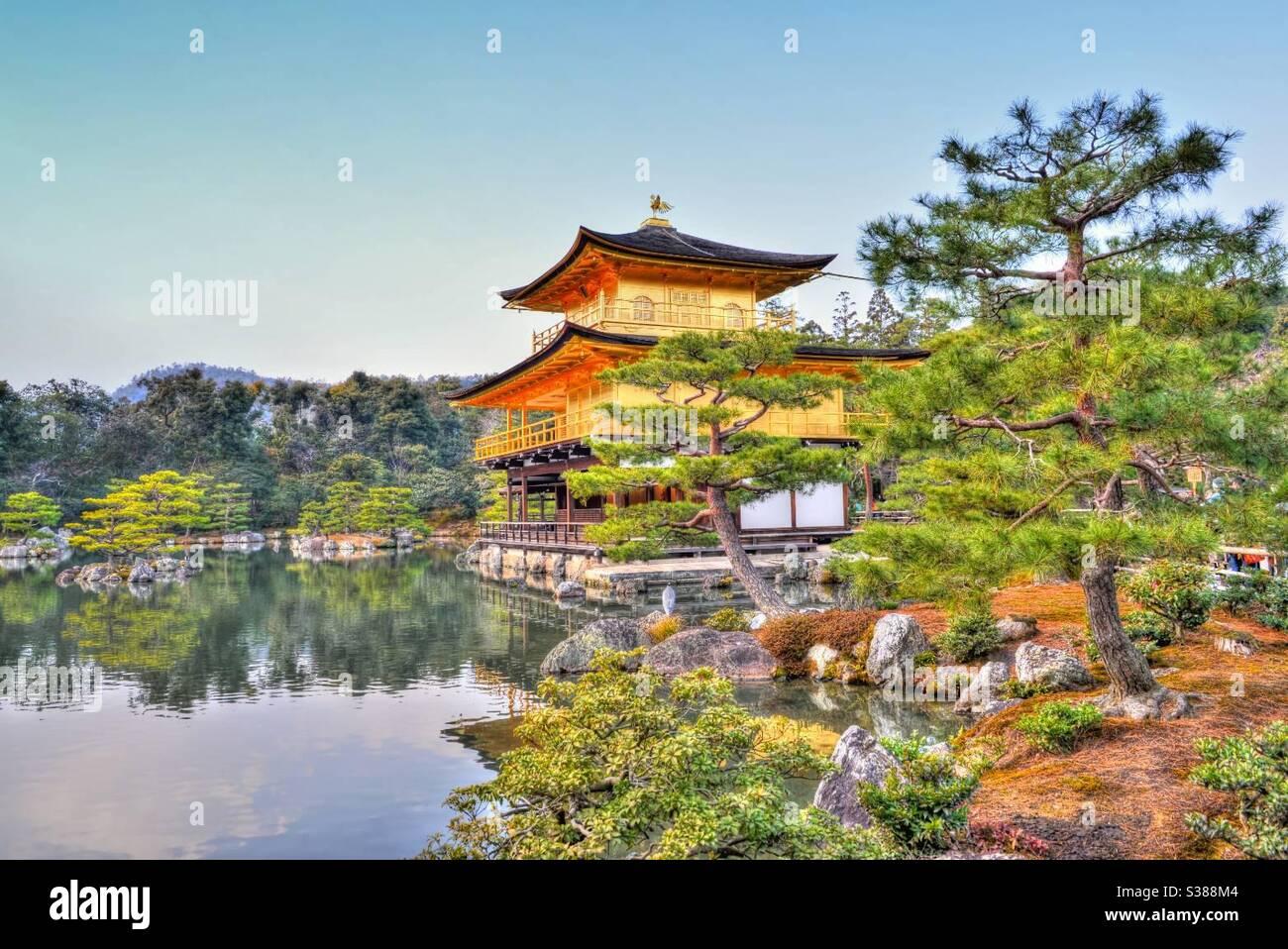 Golden Pavilion (Kinkakuji) Foto Stock