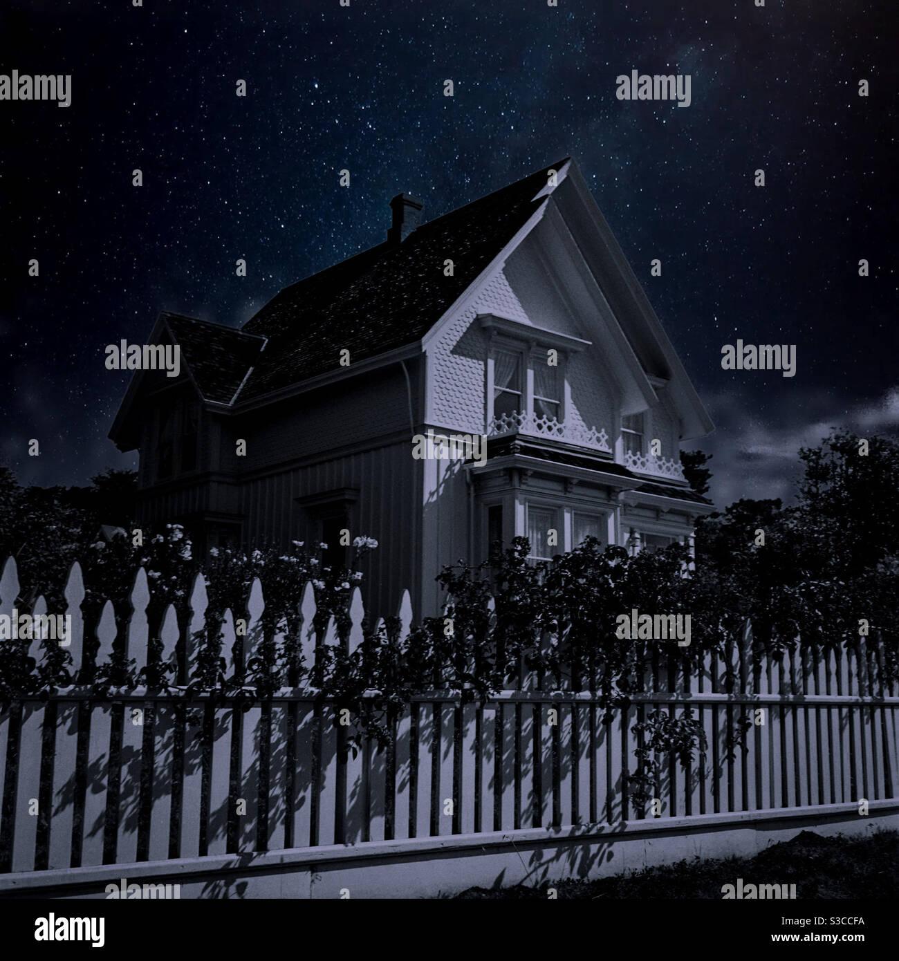 Famosa casa Blair a Mendocino, California, casa di Jessica Fletcher, personaggio immaginario da Murder, ha scritto Foto Stock