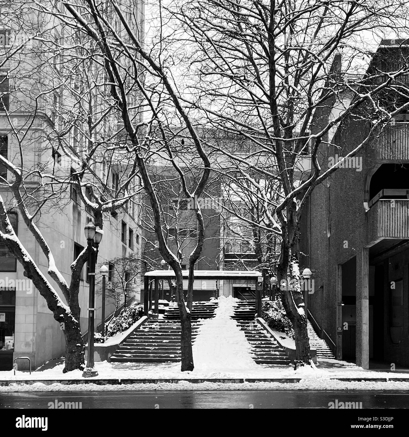 Inverno in città Foto Stock