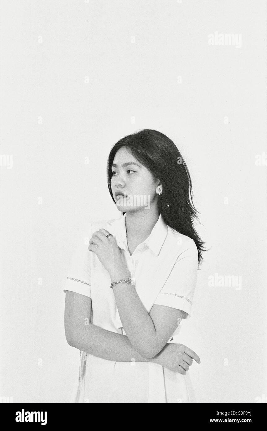 Ritratto una ragazza adolescente Foto Stock