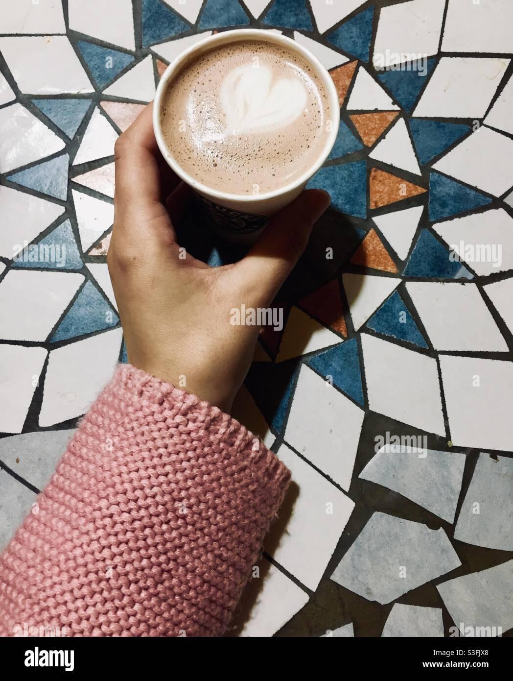 Un po' di caffè Foto Stock